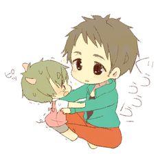 Piglet Makoto and Sousuke | Free!