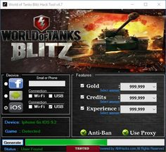 wot blitz cheat tool