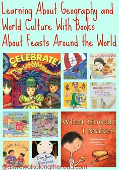 #PoppinsBookNook monthly free children's book club: Learning about geography and world cultures with books about feasts and food around the world