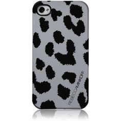 Rebecca Minkoff Cheetah Iphone Case, Silver/Black ($38) ❤ liked on Polyvore