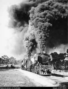 [Goods train coming into Maryborough Victoria, from Castlemaine Victoria, behind locomotives J537 and R747 at 11.35 am on the 14th of June 1965
