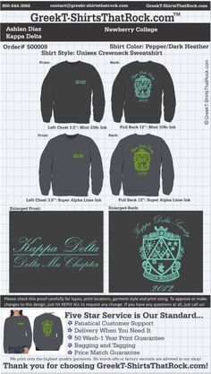 Kappa Delta 500009proof ...................................................WORK 1 ON 1 with a member of our design team until your T-Shirt ideas are perfect.... and ALWAYS them on in time (before you even need them) at the price you want! ...................................................................................................... JUST CLICK THIS IMAGE TO GET STARTED!