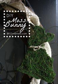 52 Mantels: Moss Easter Bunny {Tutorial}