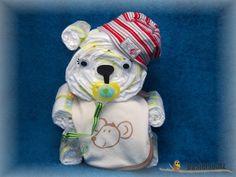 Windelbärchen, Diaper Cake, Baby Shower, Babyshower, Windeltorte, Windelfigur, Windeltier, Geburtsgeschenk, Diaper Bear