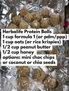 Herbalife Meal Plan, Herbalife Protein, Herbalife Shake Recipes, Herbalife Nutrition, Herbalife Motivation, Isagenix, Protein Bites, Protein Ball, Protein Snacks