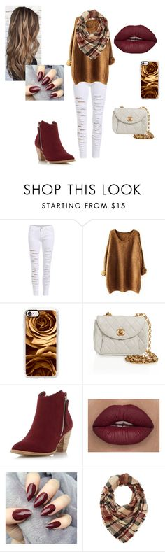 """""""fall"""" by aforehand ❤ liked on Polyvore featuring Casetify, Chanel, Dorothy Perkins and Charlotte Russe"""
