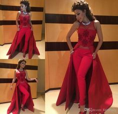 Long Sleeve Red Mermaid Evening Dresses With Detachable Skirt Applique Lace  Beading Sequin Arabic Kaftan Formal Women Evening Gowns Petite Evening Dress  ... 27456a8e6adb
