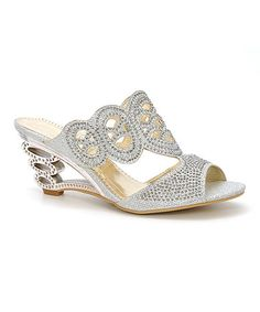 Look at this #zulilyfind! Silver Filigree Rhinestone Sandal by Simply Couture #zulilyfinds
