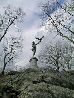 Central Park - New York City, New York - The Falconer Sculpture by George Blackall Simonds