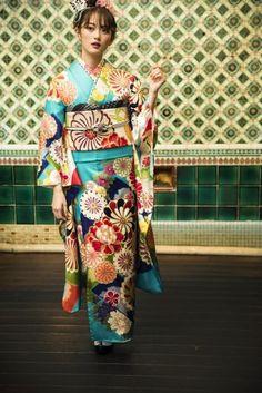 A‐3205 Japanese Lady, Yukata, Kimono Top, Women, Fashion, Geisha, Moda, Fashion Styles, Fashion Illustrations