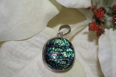 Gorgeous Dichroic glass pendant by WenJammerCreations on Etsy