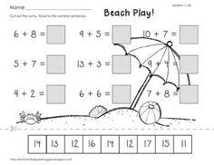 Cut, Do & Glue- Summer  Math $