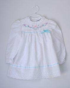 VTG Polly Flinders smocked dress