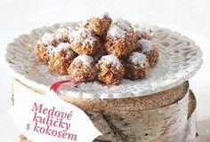 Medové kuličky s kokosem No Bake Cake, Cereal, Muffin, Baking, Breakfast, Med, Cakes, Morning Coffee, Bakken