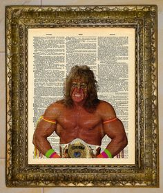 The Ultimate Warrior Dictionary Art. $5.00, via Etsy.