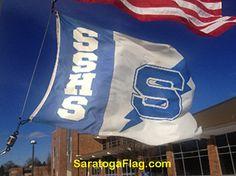 Saratoga Springs High School Flag.  Custom-made in USA.