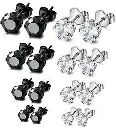 ORAZIO 8 Pairs Stainless Steel Mens Womens Stud Earrings ... https://www.amazon.com/dp/B01HTOH37C/ref=cm_sw_r_pi_dp_x_nrmtybPXCEMRR