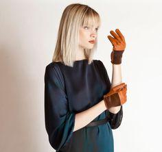 Causse Gantier   Orange Gloves   ModeWalk
