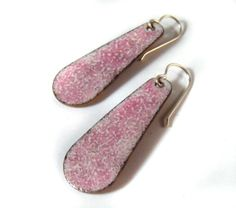 strawberry shortcake enamel earrings / butter cream by huffalo, $30.00