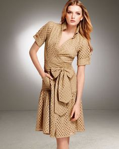 Diane vonFurstenberg Eyelet Wrap Dress
