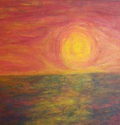 Acryl 40x40 Sonnenuntergang