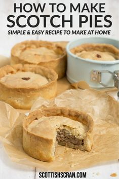 Easy & Authentic Scotch Pie Recipe - Scottish Scran Scottish Dishes, Scottish Recipes, Irish Recipes, Pie Recipes, Baking Recipes, Scottish Meat Pie Recipe, British Food Recipes, Russian Recipes, Curry Recipes