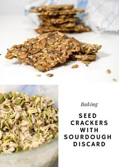 Lift your seed crackers to a new level by adding discarded sourdough starter. The taste will improve and you reduce your food waste.