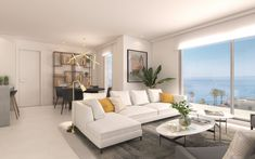 #beachside #apartments & penthouses in #mijas Costa with #seaviews see https://bablomarbella.com/en/show/sale/25292/let-the-sea-into-your-home-mijas-costa/