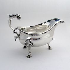 Georgian Silver Gravy Boat Sterling Silver Walter Brind London 1779