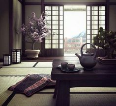 Japanese room made for study. Used Max, Vray and Photoshop Japanese House Room Design, Traditional Decor, Interior, Meditation Room, Home Decor, House Interior, Interior Design, Japanese Home Decor, Asian Home Decor