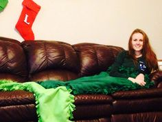 No sew mermaid tail fleece blanket! Super fun for anyone who loves mermaids!