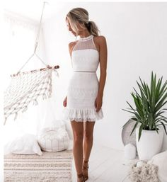 White Lace Short Homecoming Dresses, Short Party Dresses, Sexy Cocktail Dresses · Prettyqueenprom · Online Store Powered by Storenvy Lace Party Dresses, Long Wedding Dresses, Sexy Dresses, Short Dresses, Dress Party, Wedding Gowns, Lace Wedding, Wedding White, Dance Dresses