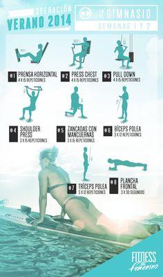 Ejercicios para entrenamiento para principiantes en el gimnasio