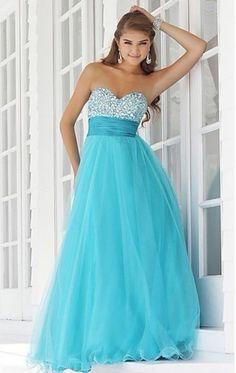 2014 New Blue Wedding Dress Long Prom Party Ball Formal Bridesmaid Evening Plus #ABC #Promdress #Formal