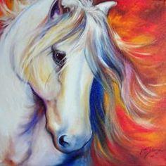 Арт: шепот лошадей арабской художницы Марсии Болдуин