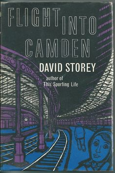 The striking design for the cover of the 1960 first edition of David Storey's  Flight into Camden.