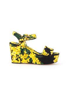 Dolce & Gabbana floral print sandals - LuxuryProductsOnline