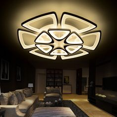 Square surface mounted modern led ceiling lights for living room ...