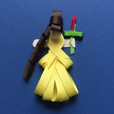 Beauty and the Beast's Belle Ribbon clip/pin by Reneespixiedust on Etsy Ribbon Sculpture, Disney Inspired, Beauty And The Beast, Trending Outfits, Unique Jewelry, Handmade Gifts, Inspiration, Etsy, Accessories