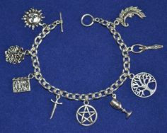 The Wiccan Charm Bracelet  Pagan Witch by MercianForest on Etsy, £4.99