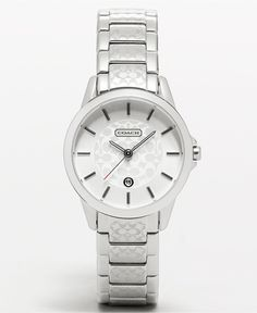 COACH CLASSIC SIGNATURE SMALL BRACELET WATCH - Women's Watches - Jewelry & Watches - Macy's