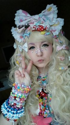 (1) Kawaii, decora, fashion, accessories, hair clips, jewellery, pastel | Lolita | Pinterest