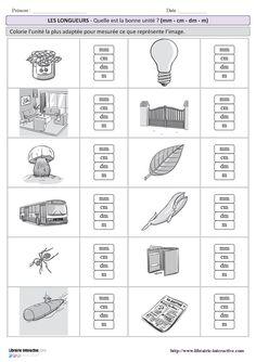 10 fiches simples pour s'entraîner à estimer une longueur en choisissant l'unité la plus adaptée avec plusieurs niveaux de difficulté (CE2 au CM2). Math 5, 1st Grade Math, Math Games, Capacity Worksheets, Cycle 3, Math Help, Math For Kids, Too Cool For School, Interactive Notebooks