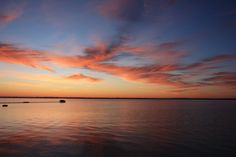View of East Grand Traverse Bay from Old Mission Peninsula – morning Sunrise