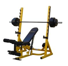 Bodymax CF516 Weights Bench ~~~ # Bench can be used independently for flat/incline/decline dumbbell workouts # Heavy duty free standing squat stand # Preacher Curl Pad and Leg Curl/Extension attachments # 320kg Squat rack weight limit # 225kg Bench weight limit #WeightsBench #HomeGym #Weightlifting