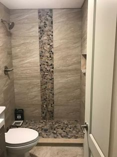 MS International Mix River Rock 12 in. x 10 mm Tumbled Marble Mesh-Mounted Mosaic Tile sq. / case) PEB-MIXRVR at The Home Depot - Mobile bathrooms decorating bathrooms storage bathrooms curtains Bathroom Tile Designs, Modern Bathroom Design, Bathroom Interior Design, Bathroom Ideas, Bathroom Organization, Shower Ideas, Bathroom Remodeling, Remodeling Ideas, Small Bathroom Tiles