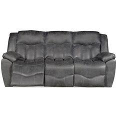 Chesterfield Sofa  Steel Microfiber Reclining Sofa