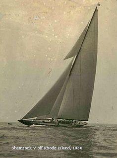 America's Cup J Class Shamrock V yacht off Rhode Island