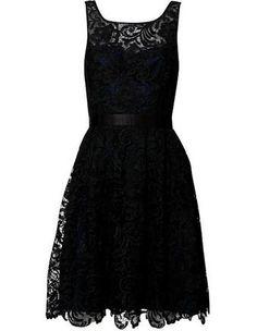 black lace dress. Future LBD