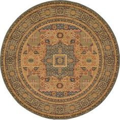Unique Heritage Fl Round Area Rug 8 Cream Green Traditional Size X Products Pinterest Rugs Outlet And